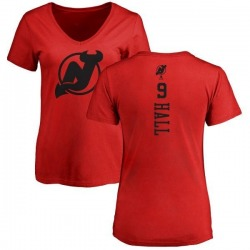 Women's Taylor Hall New Jersey Devils One Color Backer T-Shirt - Red