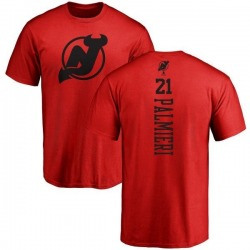 Youth Kyle Palmieri New Jersey Devils One Color Backer T-Shirt - Red